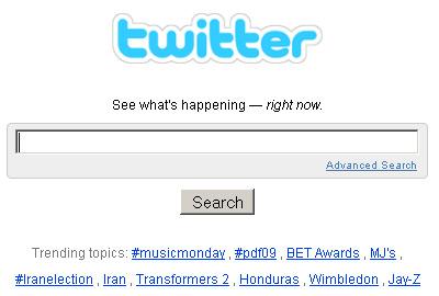 Recherche sur Twitter