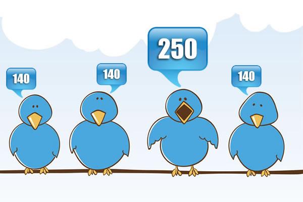Twitter limite le contenu à 140 caractères